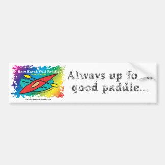 www.havekayakwillpaddle.com bumper sticker