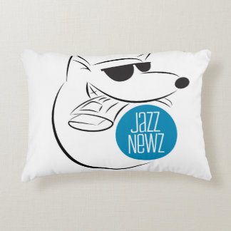 www.JazzNewz.com Accent Pillow