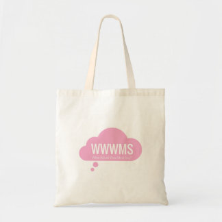 WWWMS? Pink thought cloud DBT slogan Tote Bag