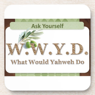 WWYD - Olive Branch - Green and Brown Drink Coasters