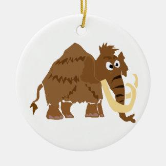 WX- Funny Woolly Mammoth Primitive Art Ceramic Ornament