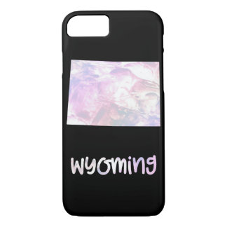 WY Wyoming State Iridescent Opalescent Pearly iPhone 8/7 Case