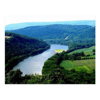 Wyalusing Pa Endless Mountain River Photo Postcard