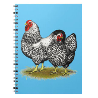 Wyandotte:  Silver Pair Spiral Notebook