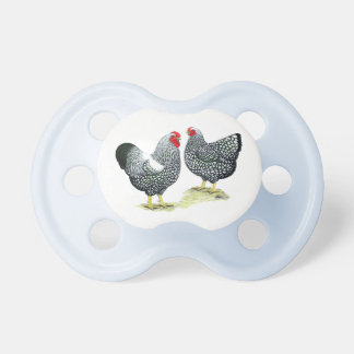 Wyandottes Silver-laced Pair Baby Pacifiers