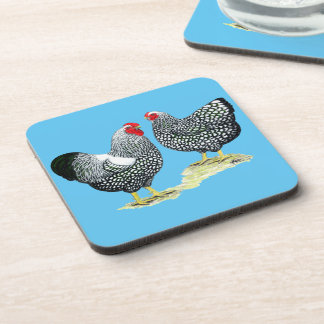 Wyandottes Silver-laced Pair Drink Coaster