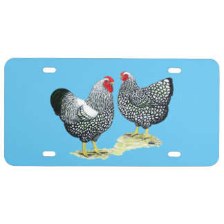 Wyandottes Silver-laced Pair License Plate