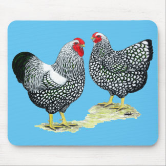 Wyandottes Silver-laced Pair Mouse Pad