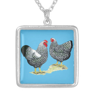 Wyandottes Silver-laced Pair Silver Plated Necklace