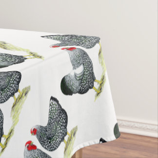 Wyandottes Silver-laced Pair Tablecloth
