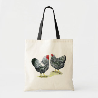Wyandottes Silver-laced Pair Tote Bag