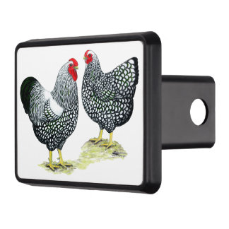 Wyandottes Silver-laced Pair Trailer Hitch Cover