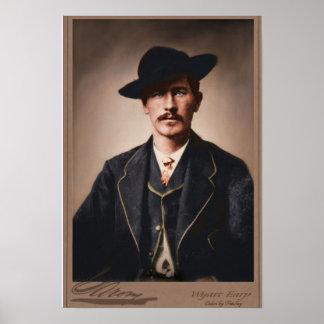Wyatt Earp colorized Poster