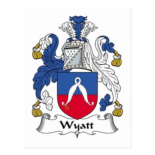 Wyatt Family Crest Postcard