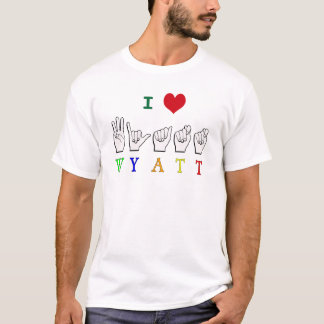WYATT NAME FINGERSPELLED ASL SIGN T-Shirt