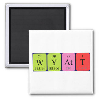 Wyatt periodic table name magnet
