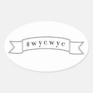#wycwyc Vinyl Sticker