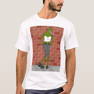 Wyked Tea'Se Against a Brick Wall (1 sided) T-Shirt