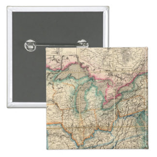 Wyld's Military Map Of The United States 2 Inch Square Button