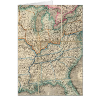Wyld's Military Map Of The United States Greeting Card