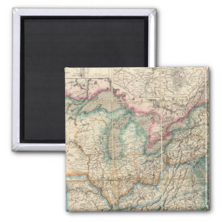 Wyld's Military Map Of The United States Refrigerator Magnets