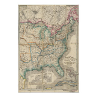 Wyld's Military Map Of The United States Poster