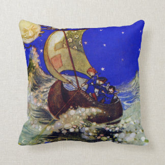 Wynken Blynken and Nod Children Throw Pillow