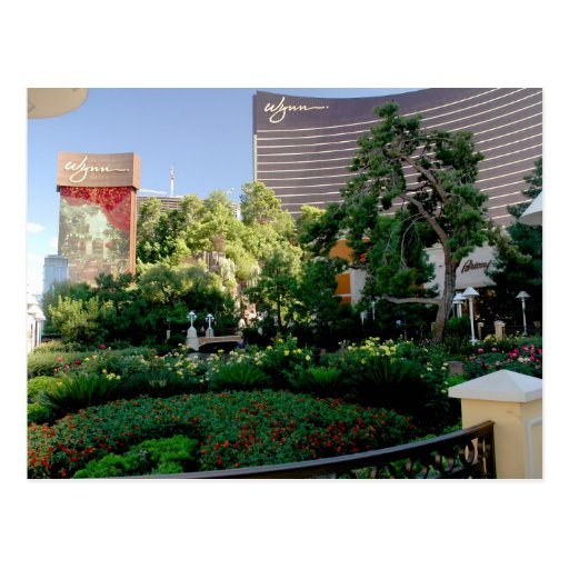 Wynn hotel and casino garden postcards
