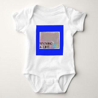 """Wyoming 4 Life"" State Map Pride Design Baby Bodysuit"