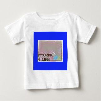 """Wyoming 4 Life"" State Map Pride Design Baby T-Shirt"