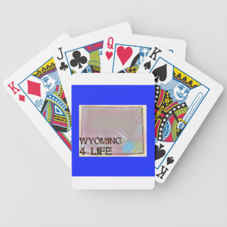 """Wyoming 4 Life"" State Map Pride Design Bicycle Playing Cards"