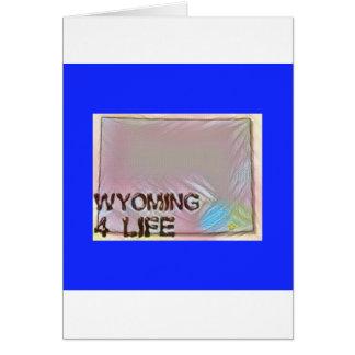 """Wyoming 4 Life"" State Map Pride Design Card"