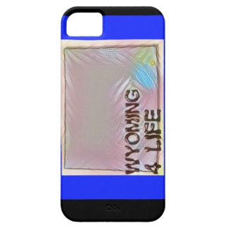 """Wyoming 4 Life"" State Map Pride Design Case For The iPhone 5"