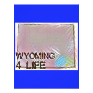 """Wyoming 4 Life"" State Map Pride Design Letterhead"
