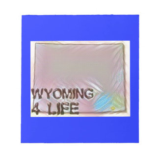 """Wyoming 4 Life"" State Map Pride Design Notepad"