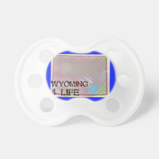 """""""Wyoming 4 Life"""" State Map Pride Design Pacifier"""
