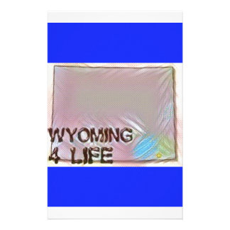"""""""Wyoming 4 Life"""" State Map Pride Design Stationery"""