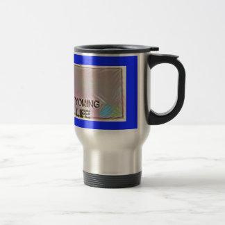 """""""Wyoming 4 Life"""" State Map Pride Design Travel Mug"""