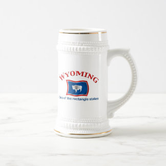 Wyoming - A Rectangle State Beer Stein