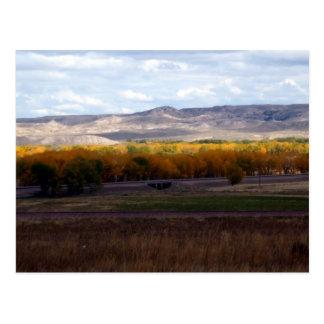 Wyoming Autumn Postcard