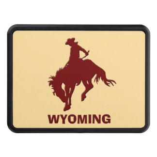 Wyoming Bucking Horse Trailer Hitch Cover
