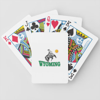 Wyoming cowboy bicycle playing cards