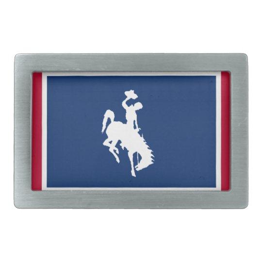 Wyoming Cowboy Bronco Belt Buckle