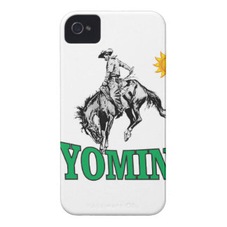 Wyoming cowboy Case-Mate iPhone 4 case