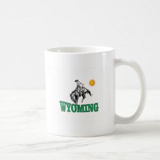 Wyoming cowboy coffee mug
