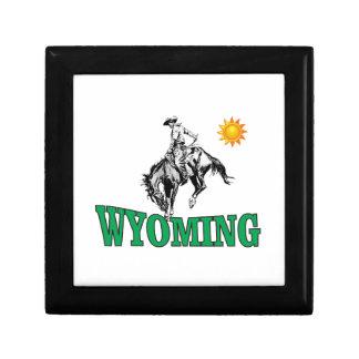 Wyoming cowboy gift box