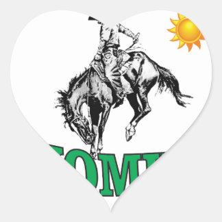 Wyoming cowboy heart sticker
