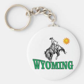 Wyoming cowboy keychain