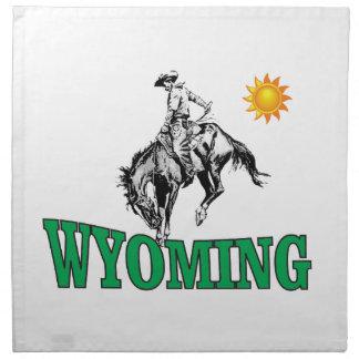 Wyoming cowboy napkin