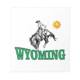 Wyoming cowboy notepad